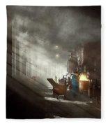 Train - Repair - Smoking Section 1942 Fleece Blanket