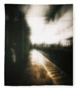 Train To The Fourth Dimension Fleece Blanket