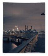 Transmitter Park Pier, Brooklyn Fleece Blanket