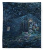 Trapp Family Lodge Cabin Sunrise Stowe Vermont Fleece Blanket