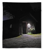 Trapp Family Lodge Cabin Sunrise Stowe Vermont Photo Fleece Blanket