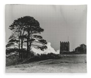 Tree And Tower Fleece Blanket