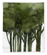 Tree Impressions 1b Fleece Blanket