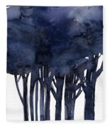 Tree Impressions 1f Fleece Blanket