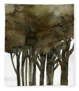 Tree Impressions No. 1a Fleece Blanket