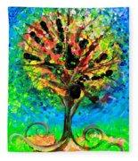 Tree Of Faith Fleece Blanket