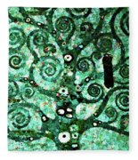 Tree Of Life Abstract Expressionism Fleece Blanket