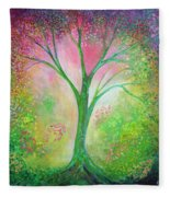 Tree Of Tranquility Fleece Blanket