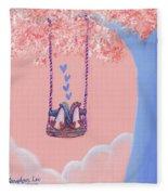 Tree Swing 3 Fleece Blanket