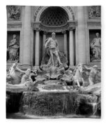 Trevi Fountain - Fontana Di Trevi Fleece Blanket