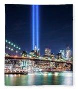 Tribute In Light From Brooklyn 1 Fleece Blanket