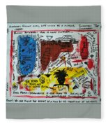 Tribute To Basquiat, Philosophy, And Activism Fleece Blanket