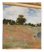 Tribute To Claude Monet Fleece Blanket