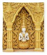 Triple Buddhas, Thailand Fleece Blanket