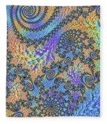 Trippy Vibrant Fractal  Fleece Blanket