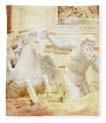 Triton And Horse Fleece Blanket