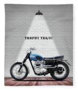 Triumph Trophy Tr6 Fleece Blanket