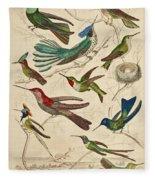 Trochilus - Hummingbirds Fleece Blanket