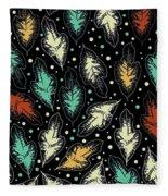 Tropical Design Pattern Fleece Blanket