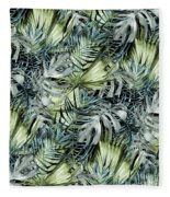 Tropical Leaves I Fleece Blanket