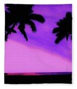 Tropical Pink Sunset Fleece Blanket