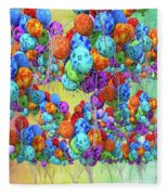 Tropical Print Balloons Fleece Blanket