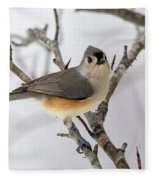 Tufted Titmouse Winter Tranquility Fleece Blanket
