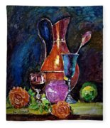 Tulip In Still Life Fleece Blanket