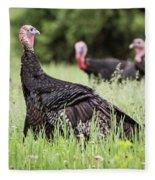 Turkey Flock Fleece Blanket