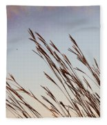 Turkey Foot Grass At Sunset Fleece Blanket