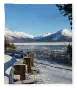 Turnagain Arm And Chugach Range From Sunrise Alaska Fleece Blanket