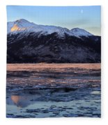 Turnagain Arm At Dawn Alaska Fleece Blanket