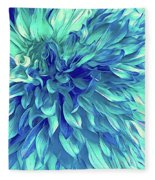 Turquoise Love  Fleece Blanket