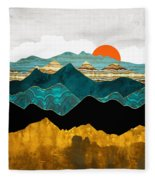 Turquoise Vista Fleece Blanket