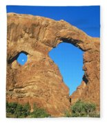 Turret Arch With Moon Fleece Blanket