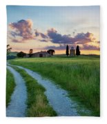 Tuscan Sunset Fleece Blanket