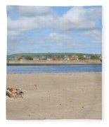 Tweed Estuary To Berwick-upon-tweed Medieval City Walls, Bridges Fleece Blanket