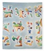 Twelve Glyphs Fleece Blanket