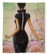 Twenty Pearls N Pink Roses Fleece Blanket