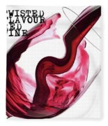 Twisted Flavour Red Wine Fleece Blanket by ISAW Company