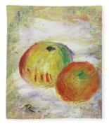 Two Apples, 1875 Fleece Blanket