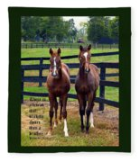 Two Friends With Proverbs 18 Vs 24 Fleece Blanket