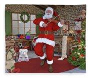 Two Nights Before Christmas Fleece Blanket