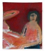 Two Nudes By A Lamp Fleece Blanket