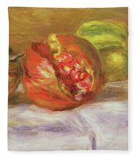 Two Pomegranates Fleece Blanket