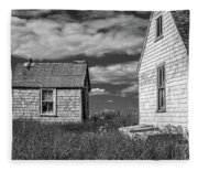 Two Sheds In Blue Rocks #2 Fleece Blanket