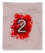 Twoo Over Red Stain Fleece Blanket