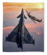 Typhoon And Spitfire Synchro-pair Display Team Fleece Blanket
