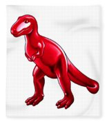 Tyrannosaurus Cartoon Fleece Blanket