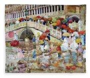 Umbrellas In The Rain - Digital Remastered Edition Fleece Blanket